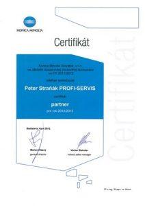 certifikat - autor.obchodny partner 2012