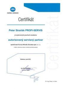 certifikat - autor.servisny partner 2012